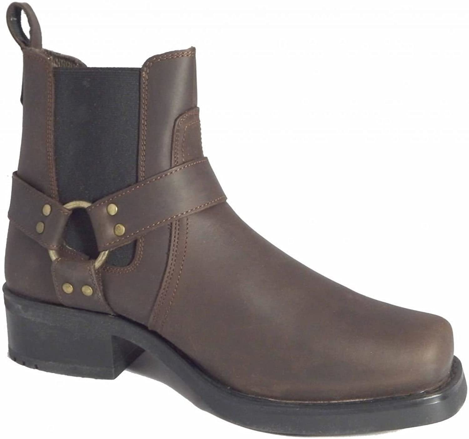 GRINGOS 'LOW HARLEY' Gusset Harness Boots