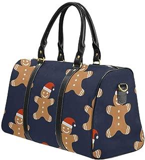 InterestPrint Unisex Duffel Bag Carry-on Bag Overnight Bag Weekender Bag Skull