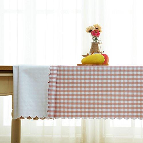 HM&DX PVC Kunststoff Tischdecken Wasserdicht Ölfreie Abwaschbar Schmutzabweisend Gitter Tisch-Abdeckung Esszimmer couchtisch Tuch abdecken-C 120x170cm(47x67inch)