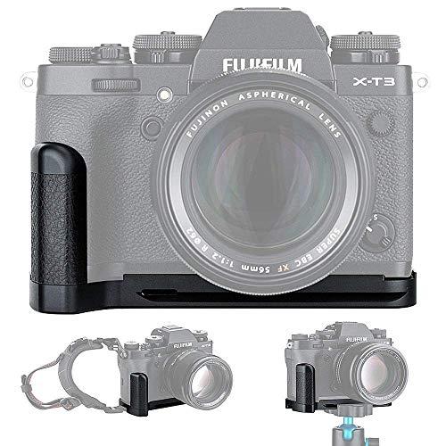 JJC Metall Handgriff L-Platte Schnellwechselhalterung für Fujifilm Fuji X-T3 X-T2 ersetzt Fujifilm MHG-XT3 MHG-XT2 Handgriff