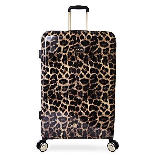 BEBE Women's Luggage Adriana 29' Hardside Check In Spinner, Leopard, One Size