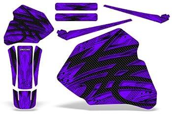 CreatorX Graphics Kit Decals Stickers for 1985-2000 Honda Xr80 Xr100 Xr 80 100 Tribal Bolts Purple