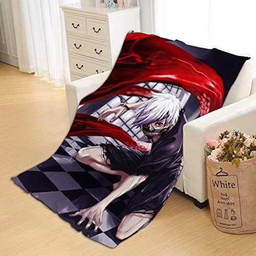 Haosb Blankets Tokyo Suburbs Food Anime Blanket Flannel Air Conditioning Blanket Custom CD Print Blanket for Sleeping Coral Fleece Golden Wood E 125 * 200 Cm