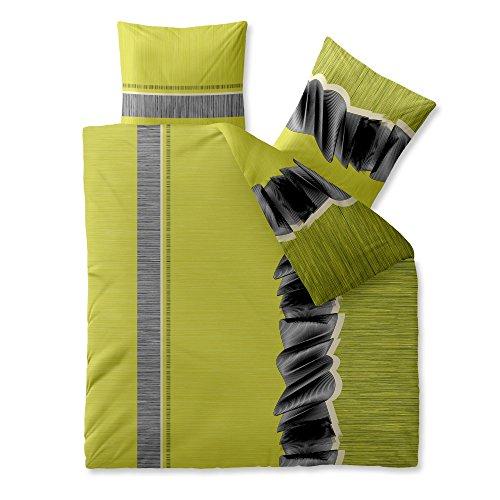 CelinaTex Harmony Bettwäsche 200 x 220 cm Mikrofaser Bettbezug Berra Streifen Grün Grau
