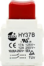 2Pcs KEDU HY37B Electric Tool Trigger Switch 125/250V 17/12/10/8A Hand-Held Power Tool Switches for Lawn Mowers and Garden Tools Dust-Proof and Lock Off Function CE UL TUV