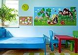 AG Design FTG 0934  Kleine Maulwurf Kuchen, Papier Fototapete Kinderzimmer - 202x90 cm - 1 Teil, Papier, multicolor, 0,1 x 202 x 90 cm