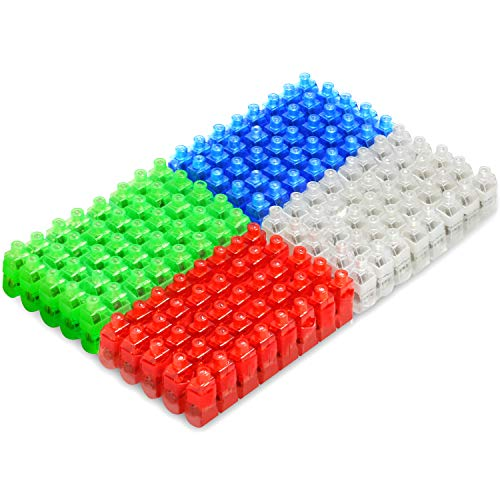 Novelty Place LED Finger Lights 160 Pack Bright Party Favors Party Supplies for Holiday Light up Toys Assorted Color