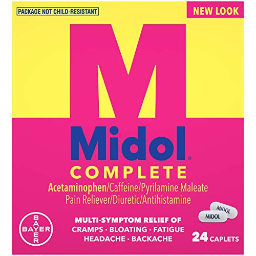Midol Complete Caplets, 24-Count (Pack of 2), Packaging May Vary