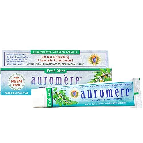 Herbal Zahnpasta, Fresh Mint, 4.16oz (75ml/117G)–Auromere–UK Verkäufer