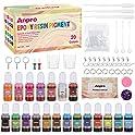 60-Pieces Anpro 20 Colors Epoxy Liquid DIY Resin Pigment Kit