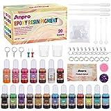 Pigmento para Resina Epoxi, Anpro 20 * 10 ml Colores Colorante Resina Epoxi, Resina Epoxi Transparente Dye Resina para Bomba de Baño, Pintura, DIY Joyas/Manualidades