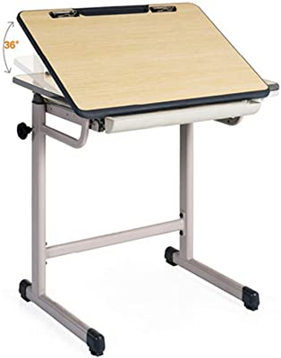 Virod-Table Liftable Study Table, Computer Desk, Very Suitable for Classroom Office 70CM (D) X79CM (H) (Natural Color) Modern Style