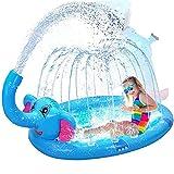 XJJY Elefant Aufblasbare Spielzentrum Sprinkler Pad Spray Wasser Spielzeug Für Kinder über 3 Jahre Outdoor Summer Garden Spray Toys für Familienaktivitäten/Party/Garten