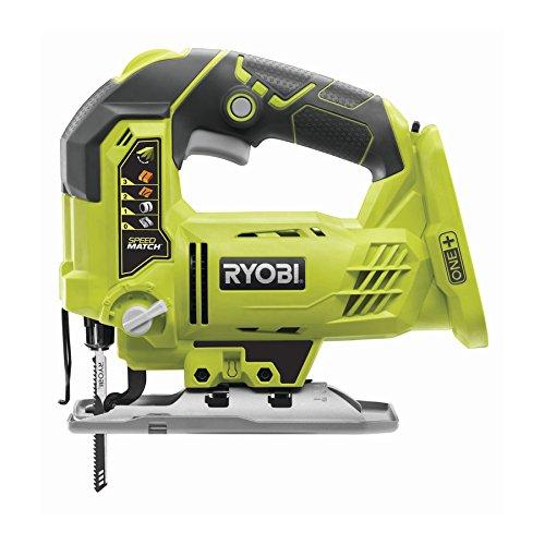 Ryobi R18JS-0 ONE + Scie Sauteuse avec LED, 18 V (Corps Seulement) - Vert/Gris