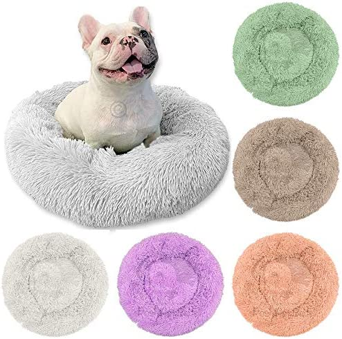The Original Round Donut Calming Cuddler Pet Bed Cushion Bed for Small Medium Dogs and Cats product image