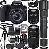 Canon EOS 250D (Rebel SL3) DSLR Camera with 18-55mm & 75-300mm Canon Lenses &...