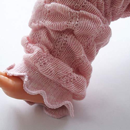 オーガニックコットンベビー用締め付けが優しいふんわりレッグウォーマー日本製新生児からOK柔らかメロー加工ピンク