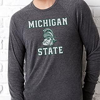Nudge Printing Michigan State University Gruff Sparty Long Sleeve Sweater