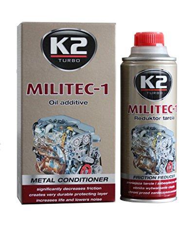 Additif pour huile de moteur K2 MILITEC - Réduit les frottements - 250 ml