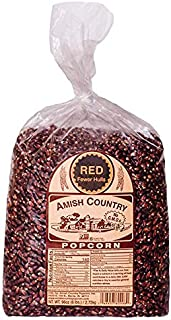 Amish Country Popcorn | 6 lb Bag | Red Popcorn Kernels | Old Fashioned with Recipe Guide (Red - 6 lb Bag)