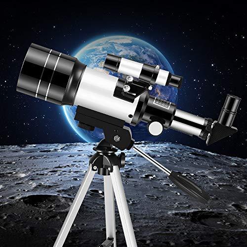 KKTECT Telescopio para niños principiantes Telescopio de observación de estrellas de gran aumento Telescopio astronómico portátil de 70 mm con trípode El mejor regalo para los niños