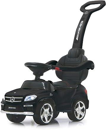 Jamara 460434-Correpasillo Mercedes-AMG GL 63 2en1 – Antivuelco, Asiento en Piel sintética, Luz Delantera y Trasera, Soporte, Protección Lateral, Color Negro 460434