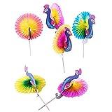 45pcs Peacock Drink Umbrella Fruit Cake Sticks Picks Party Decor...