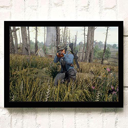 Juego en línea Caliente PUBG 3D Fps Shoot Battlefield Survival HD Carteles Juego de rol Arma Decoración del hogar Sala Lienzo Pintura 90 * 120 cm