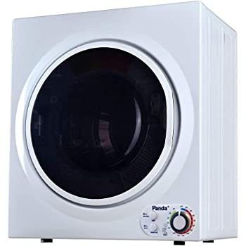 Panda Portable Compact Laundry Dryer, 3.5 cu.ft, 13lbs Capacity, Black and White, PAN760SF