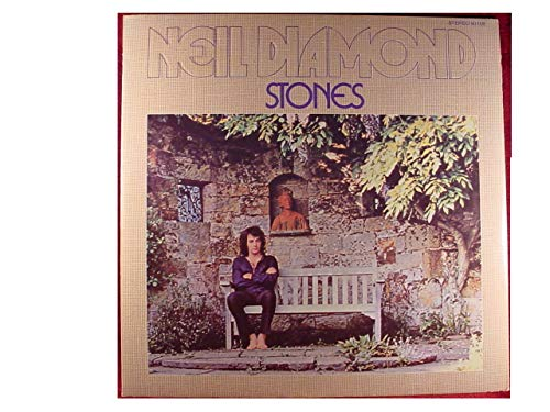 Neil Diamond STONES - Universal City Records 1971 - USED Vinyl LP Record - 1971 Pressing 93106 ORIGINAL EMBOSSED Textured Flap Cover Intact Grommets - I am...I Said - Suzanne - Chelsea Morning