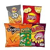 PepsiCo - Pack TV Shows: 13 Bolsas Surtido de Patatas Fritas y Snacks - Cheetos Pelotazos (2), Doritos Tex-Mex (3), Lay's 3D's (2), Lay's Al Punto de Sal (3) y Ruffles Jamón (3) - 551 g