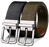 Reversible Belt Men,Bulliant Nylon Golf Belt For Mens Sports Casual,One Reversible For 2 Colors