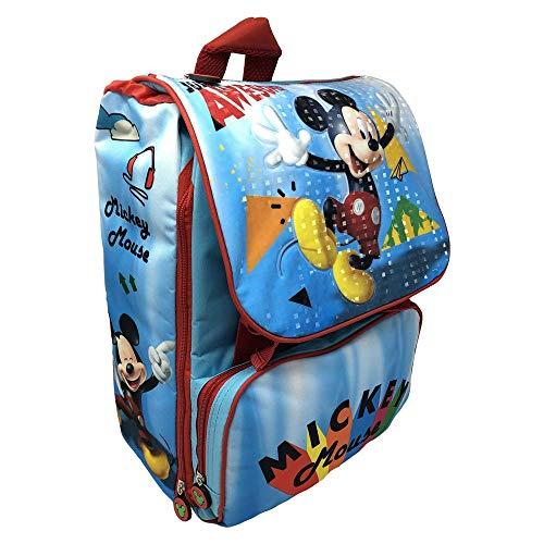 zaino Topolino Mickey Mouse Disney Estensibile Borsa Scuola ELEMENTARE CM. 40X29X28 - MIC0450