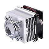 Tesfish alluminio dissipatore ventola di raffreddamento + 44MM lente 120 gradi per 50W 100W Chip LED luce