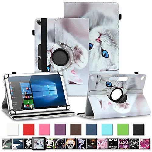 Tablet Tasche für Archos 101f 101e Neon 101b Oxygen Schutzhülle hochwertiges Kunstleder Hülle Standfunktion 360° Drehbar 10.1 Zoll Universal Case, Farben:Motiv 6