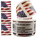 100-Piece Postage Stamp US Flag Paper