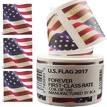 100-Piece Postage Stamp US Flag Paper