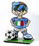 Romero Britto World Cup Soccer Player Mini-Figurine - Italy