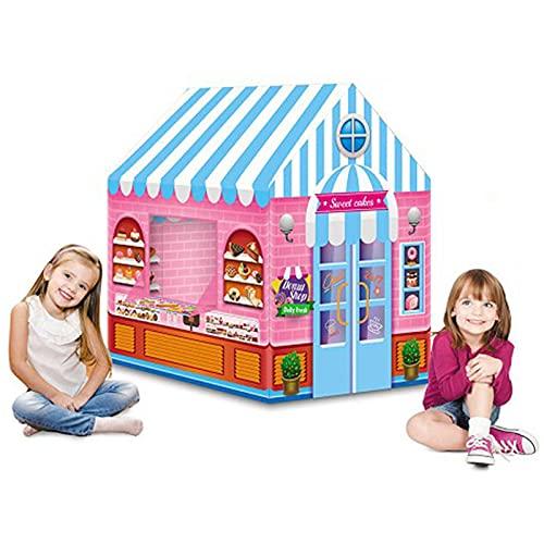 LUNE Play Tent for Children, Juegos de jardín para niños Dentro o Fuera de los niños Playhouse para niñas de 3 años de Rosa, Regalo para niños
