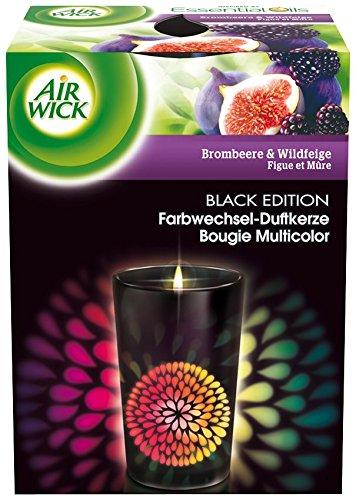 Air Wick Farbwechsel Duftkerze Black Edition Brombeere und Wildfeige, 3er Pack (3 x 155 g)