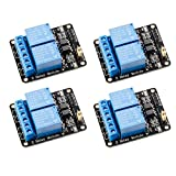 DollaTek 4 Pezzi Modulo relè 5V 2 canali 5V con optocoupler Scheda di espansione Trigger a Basso Livello per Arduino Uno R3 Mega 2560 1280 DSP Arm PIC AVR STM32 Raspberry Pi