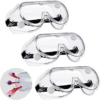 Foto di Knoijijuo Occhiali Occhiali di Protezione da Virus, Virus Occhiali/Protezione Saliva/Occhiali Antinebbia/Protezione degli Occhi Occhiali Cancella (3 Pack)