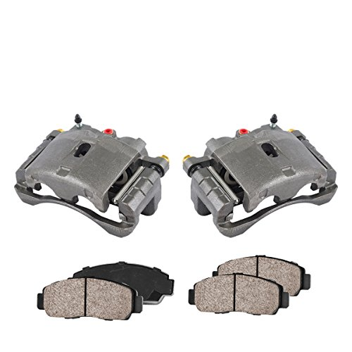 Callahan CCK11438 [2] FRONT Premium Loaded OE Caliper Assembly Set + Quiet Low Dust Ceramic Brake Pads