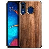 NageBee Case for Samsung Galaxy A20/A30/A50/A50S/A30S, [Real Natural Walnut Wood], Ultra Slim Protective Bumper Shockproof Phone Case (Every Piece is Unique) -Wood