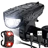 Vont 'Breeze' Bike Light Set, USB Rechargeable Bicycle Light, Instant...
