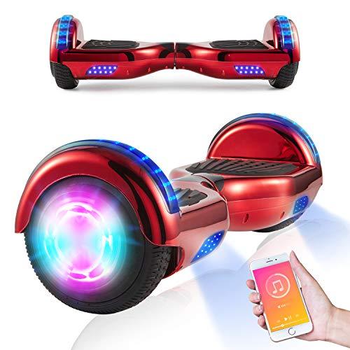 """Hoverboards, Scooter autoequilibrado de 6.5""""para niños, Scooter eléctrico Hoverboard Segway con Luces LED, Altavoz Bluetooth, Ruedas Intermitentes, los Mejores Regalos para niños"""