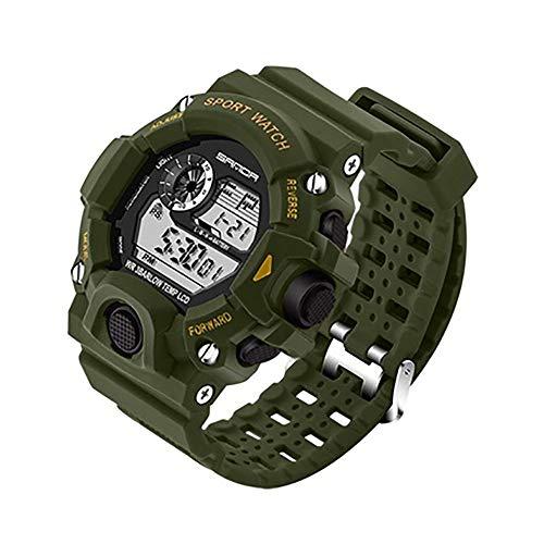 LMST Herren-Sportuhr, modische Armbanduhr, Taucheruhr, Sport, LED, Digital, wasserdicht, G212TI948K2JRRO00XN8VSQYE, grün