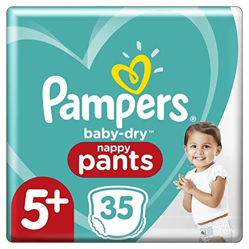 Pampers Pampers Windelhöschen, Größe 5+, 12 kg, 17 kg, Baby-Dry Pants, 35-teilig