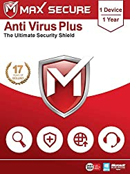 Max Secure Software Antivirus Plus for PC 2019   1 Device   1 Year (Activation Key Card)