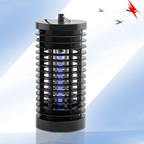 Bug Zapper Electronic Insect Killer LESHP Powerfu Light-Control Electric Mosquito Fly Bug Killer, Fly Zapper, Mosquito Killer with Trap Lamp for Standing or Hanging Indoor or Outdoor(Black)